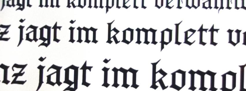 Schriftmuster