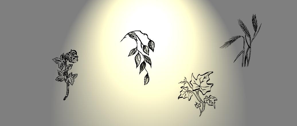 Symbole für Trauerschleifen