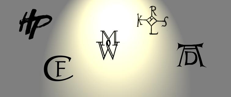 Monogramme als Signatur
